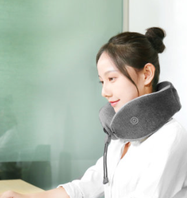 Xiaomi Le Fan Massage Sleep Neck Pillow Gray (массажер подушка, латекс, 6000об/мин, 265х240х100мм)