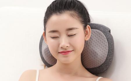 Xiaomi Le Fan Kneading Massage Pillow Gray (массажная подушка 3D, 2600 мАч, 310х210х127мм, 1.45кг)