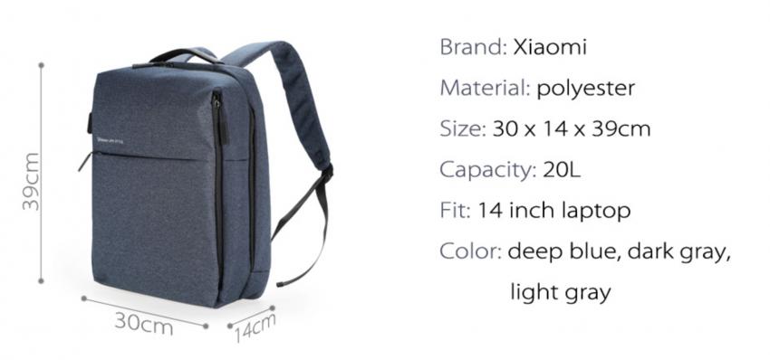 Сумка Рюкзак Xiaomi Urban Lifestyle Backpack Black