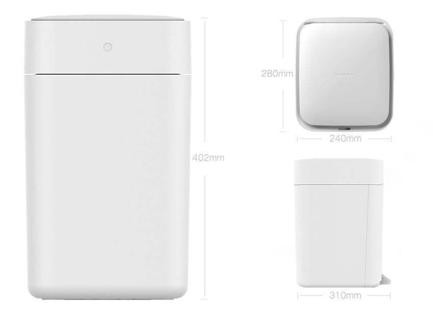 Умное мусорное ведро Xiaomi Mijia Townew Smart Trash Smart Bin (функция стерилизации, компрессия мус