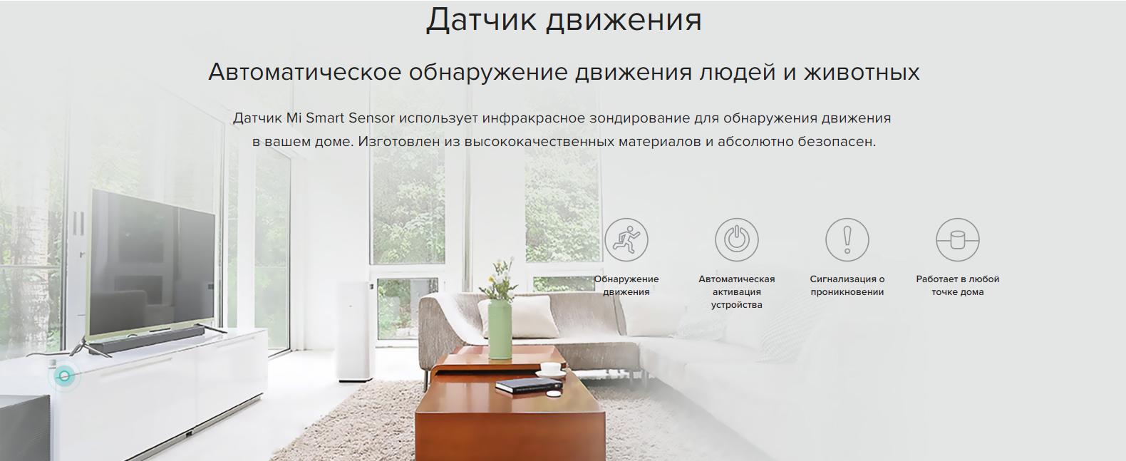 Набор датчиков Xiaomi Mi Smart Sensor Set (Russia) (ZHTZ02LM)