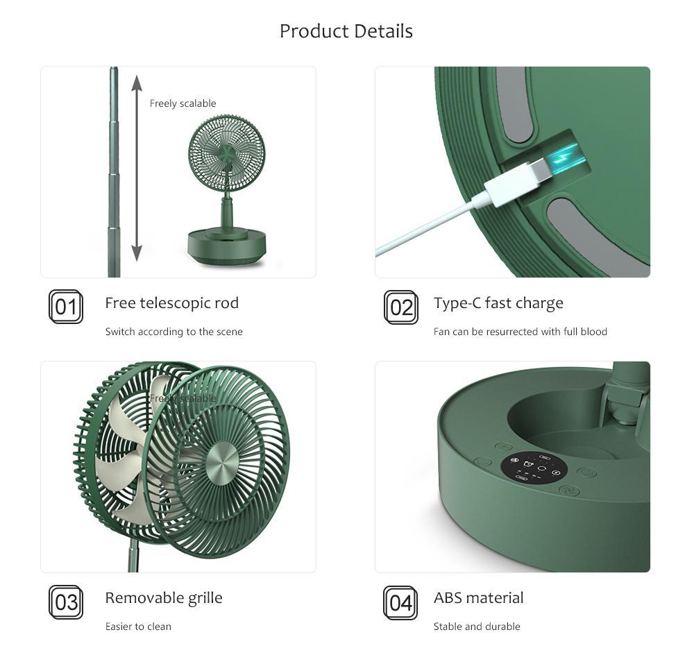 Вентилятор с увлажнителем Xiaomi EDON Humidifier Fan E908B Green