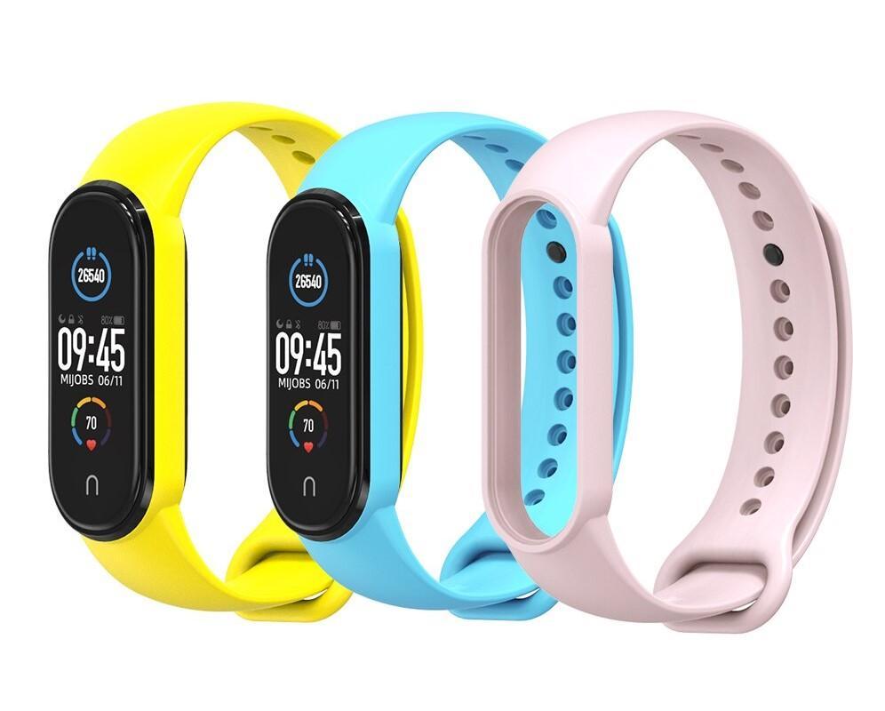 Mi Band 5/6 Wrist Silicon Strap Basic Yellow