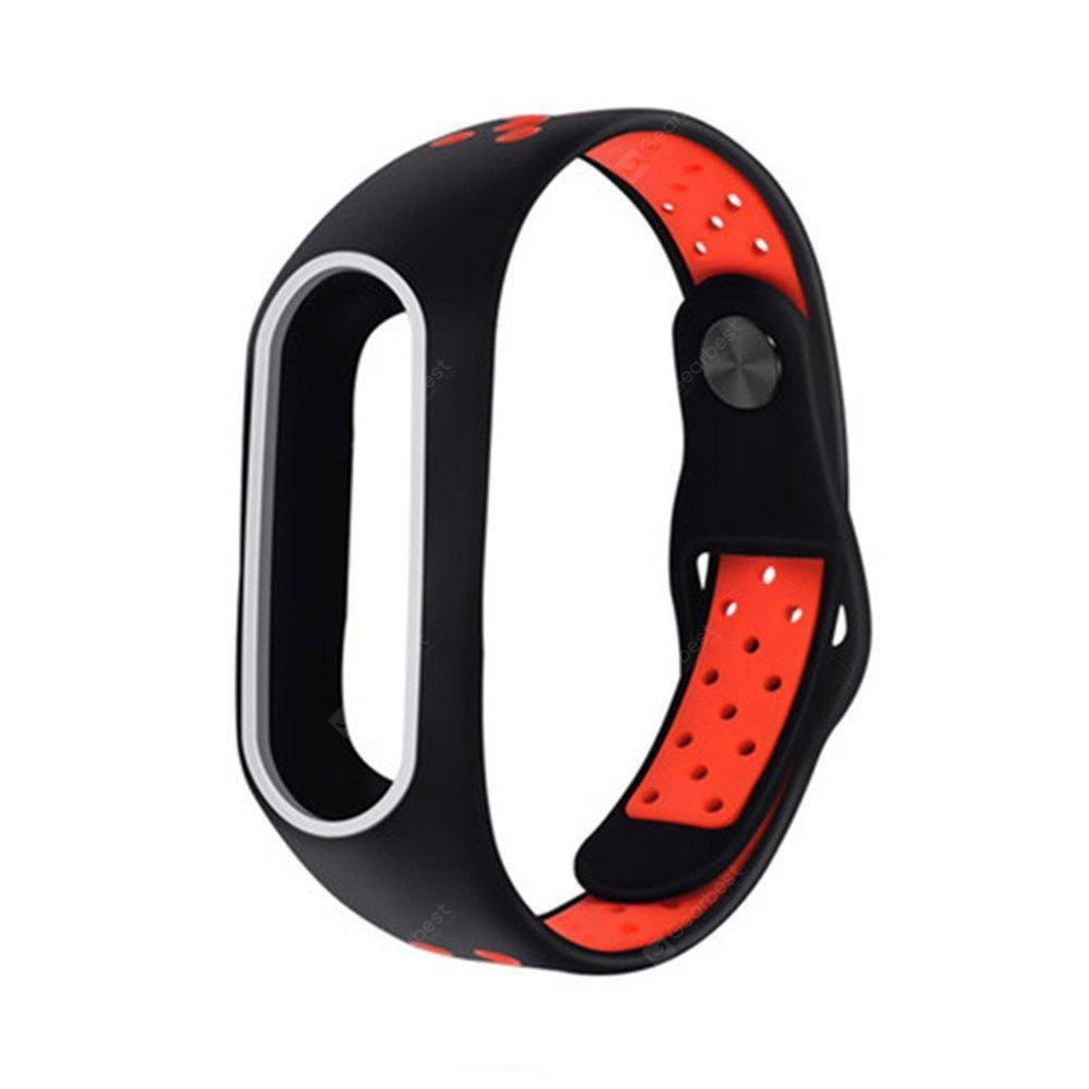 Mi Band 5/6 Wrist Silicon Sport Strap Black/Red