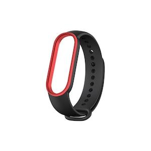 Mi Band 5 Wrist Silicon Strap 2-color Black Red
