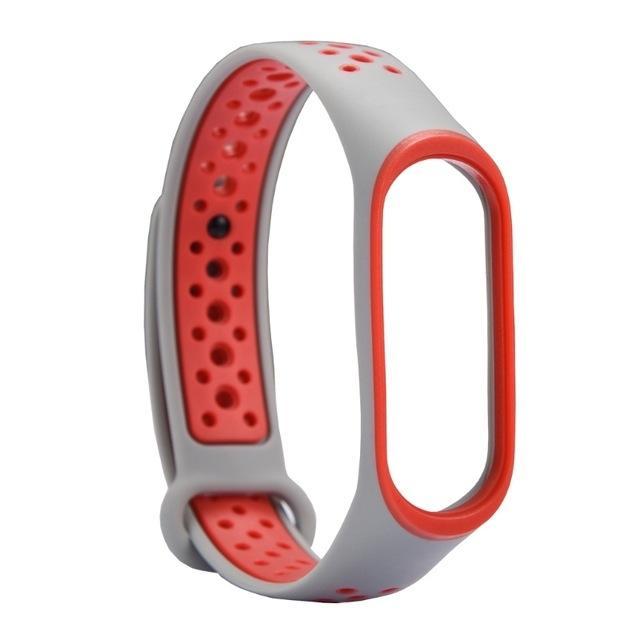 Mi Band 5/6 Wrist Silicon Sport Strap Gray/orange
