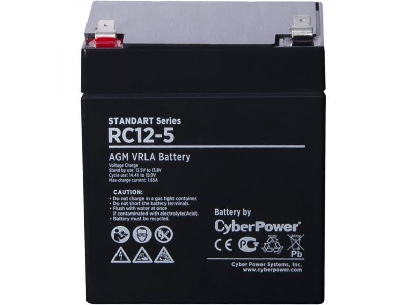 Батарея аккумуляторная для ИБП Аккумуляторная батарея SS CyberPower RC 12-5 / 12 В 5 Ач Battery CyberPower Standart series RС 12-5, купить в Красноярске. Цена на Батарея аккумуляторная для ИБП Аккумуляторная батарея SS CyberPower RC 12-5 / 12 В 5 Ач Battery CyberPower Standart series RС 12-5,: отзывы, описания, характеристики