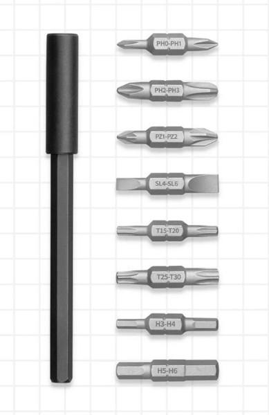 Отвертка Xiaomi Mijia 16-в-1 Ratchet Screwdriver (MJJLLSD002QW) (сталь S2, момент до 20 Н*м, 16 магн