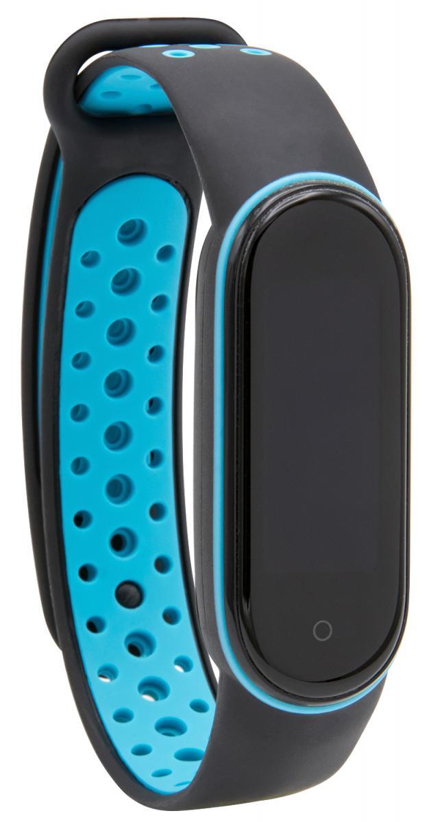 Mi Band 5/6 Wrist Silicon Sport Strap Black/Blue (для Xiaomi Mi Band 5/6, браслет или рем (для Xiaom