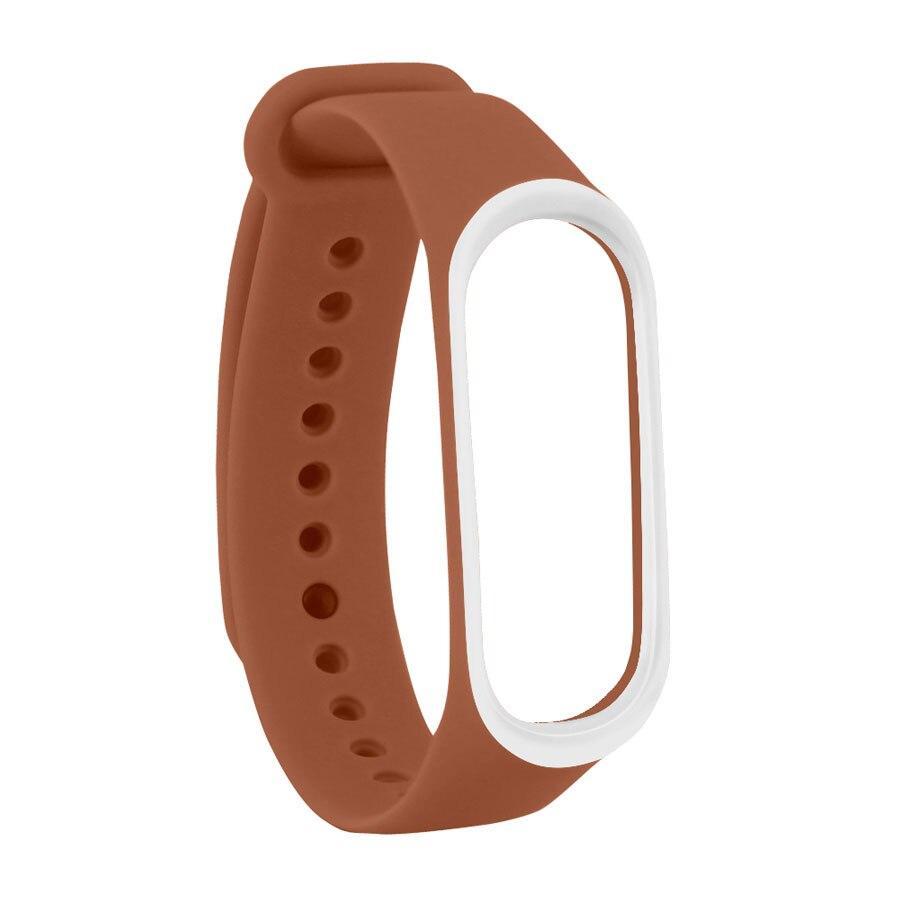 Mi Band 5/6 Wrist Silicon Strap 2-color Red and White