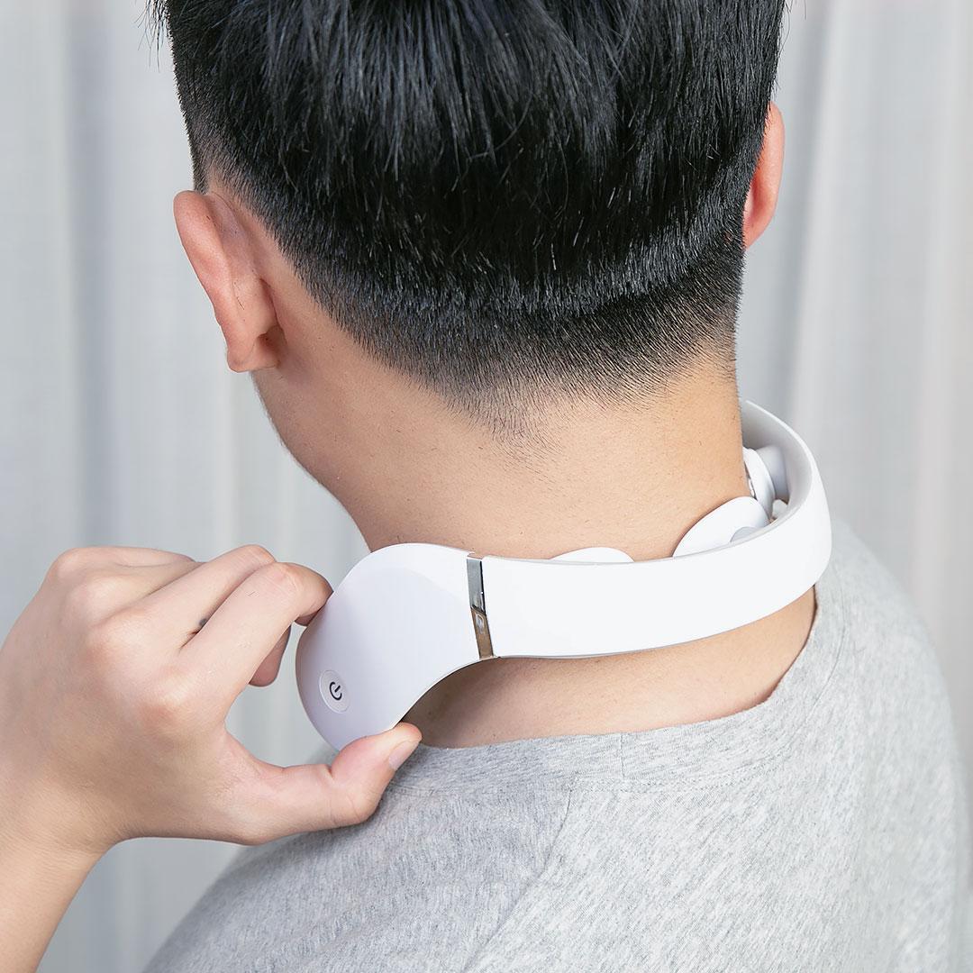 Массажер для шеи Jeeback G2 Neck Massager (с дополнительным подогревом, метод электромиостимуляции,