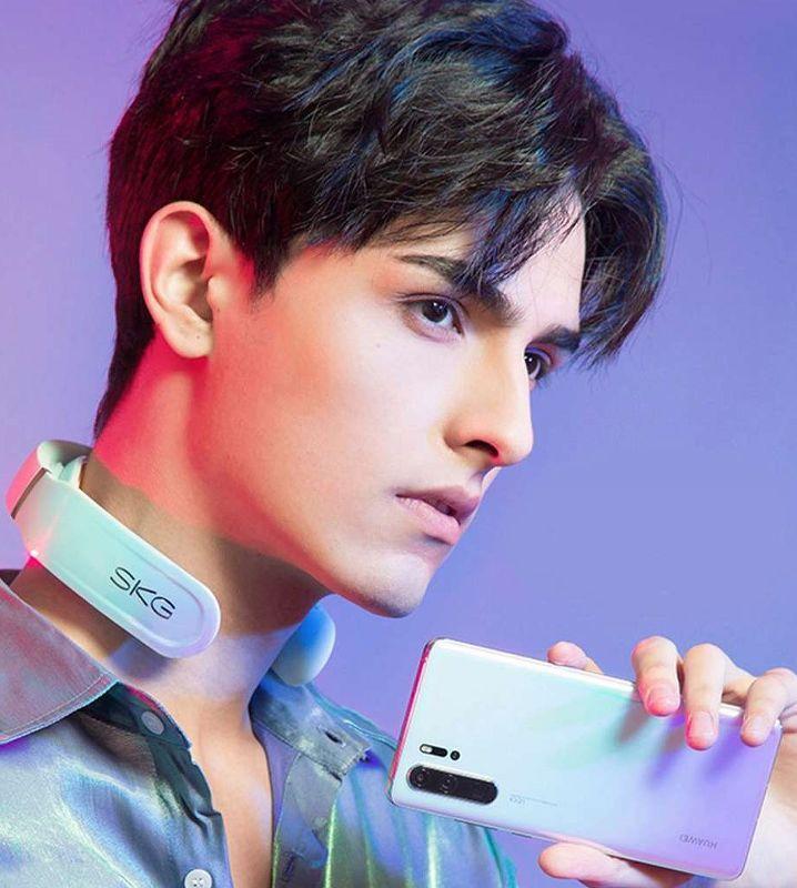 Массажер для шеи Xiaomi SKG K6 White (с подогревом, метод электромиостимуляции, Bluetooth, управлени
