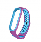Mi Band 5 Wrist Silicon Sport Strap Purple/Blue <для Xiaomi Mi Band 5, браслет или реме